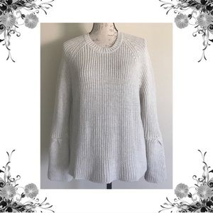 {John + Jenn} NWOT Metallic Bell Sleeve Sweater